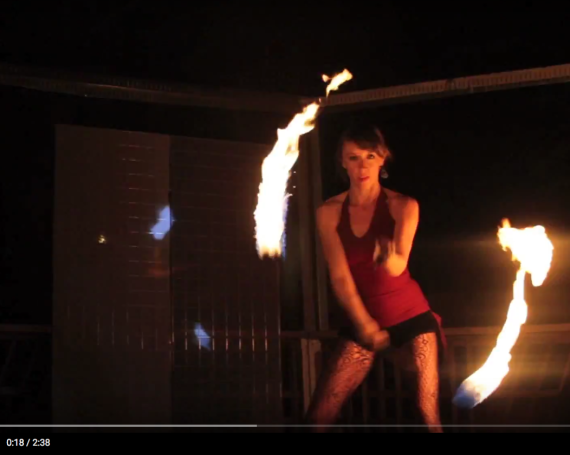 WATCH: Fire Poi