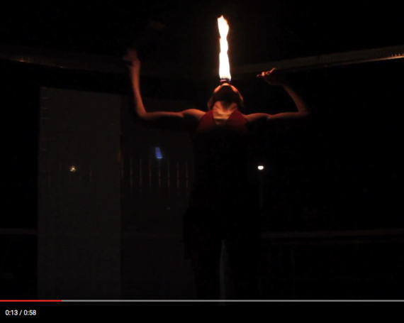 WATCH: Fire Eating & Fleshing