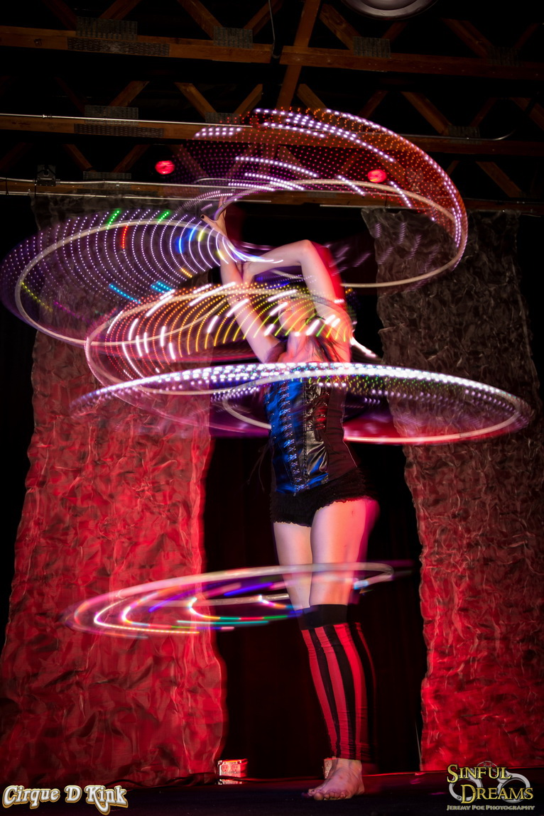Multiple LED hula hooping